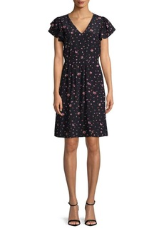 Rebecca Taylor Mia Floral Silk Dress