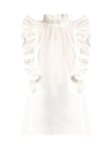 Rebecca Taylor Mia ruffled-collar cotton top