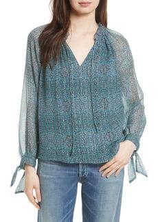 Rebecca Taylor Minnie Floral Silk Top