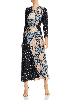 Rebecca Taylor Mixed-Print Floral Maxi Dress