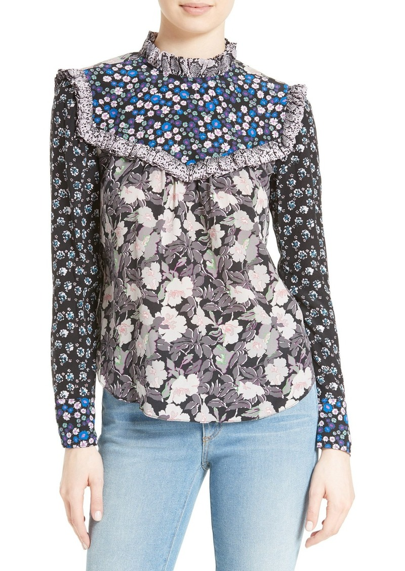 3746cde2e2beb2 Rebecca Taylor Rebecca Taylor Mixed Print Silk Blouse | Casual Shirts