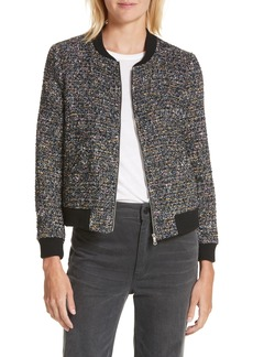Rebecca Taylor Multi-Tweed Bomber Jacket