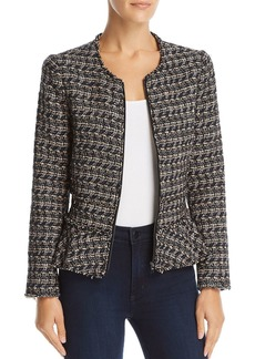 Rebecca Taylor Multi Tweed Peplum Jacket
