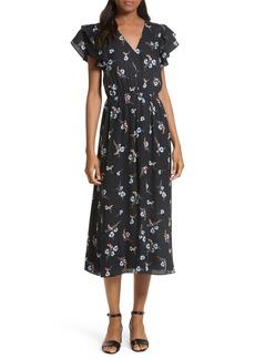 Rebecca Taylor Natalie Fleur Silk Midi Dress