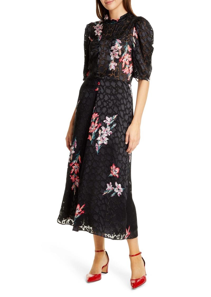 Rebecca Taylor Noha Floral Maxi Dress