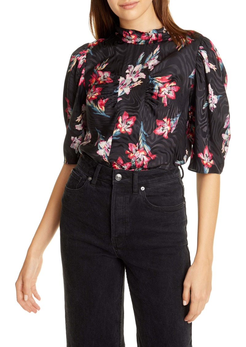 Rebecca Taylor Noha Floral Silk Blend Top