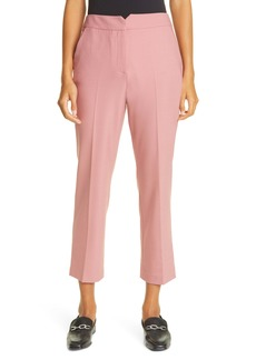 Rebecca Taylor Notch Waist Stretch Gabardine Trousers