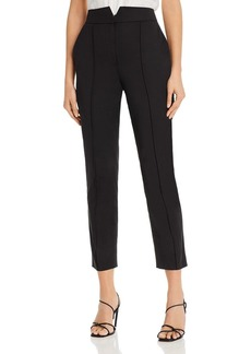 Rebecca Taylor Notched-Waist Cropped Pants