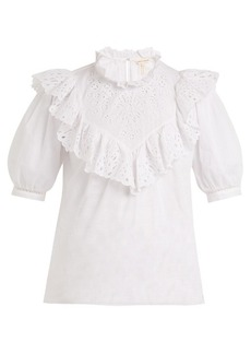 Rebecca Taylor Nouveau ruffled cotton top