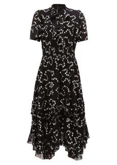 Rebecca Taylor Nuage polka-dot fil-coupé silk-blend dress