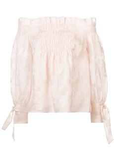 Rebecca Taylor off-shoulder blouse - Pink & Purple