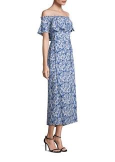 Rebecca Taylor Off-the-Shoulder Aimee Silk Dress