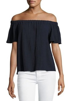 Rebecca Taylor Off-the-Shoulder Cotton Top