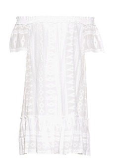Rebecca Taylor Off-the-shoulder embroidered cotton dress