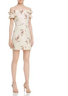 Rebecca Taylor Ivie Fleur Off-the-Shoulder Embroidered Dress