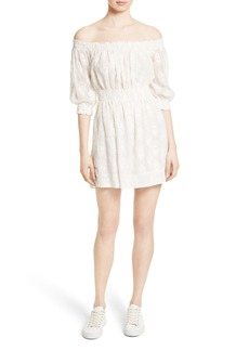 Rebecca Taylor Off the Shoulder Embroidered Dress