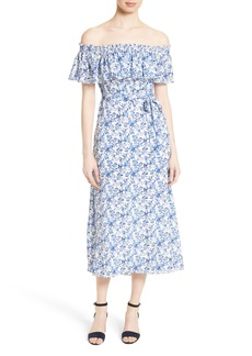Rebecca Taylor Off the Shoulder Midi Dress
