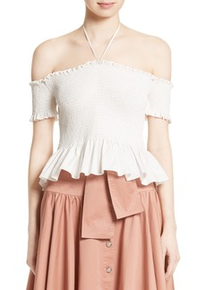 Rebecca Taylor Off the Shoulder Pop Top