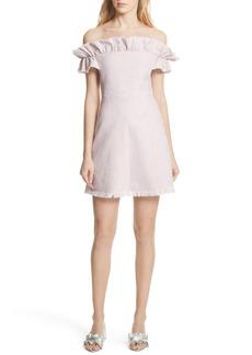 Rebecca Taylor Off the Shoulder Ruffle Dress