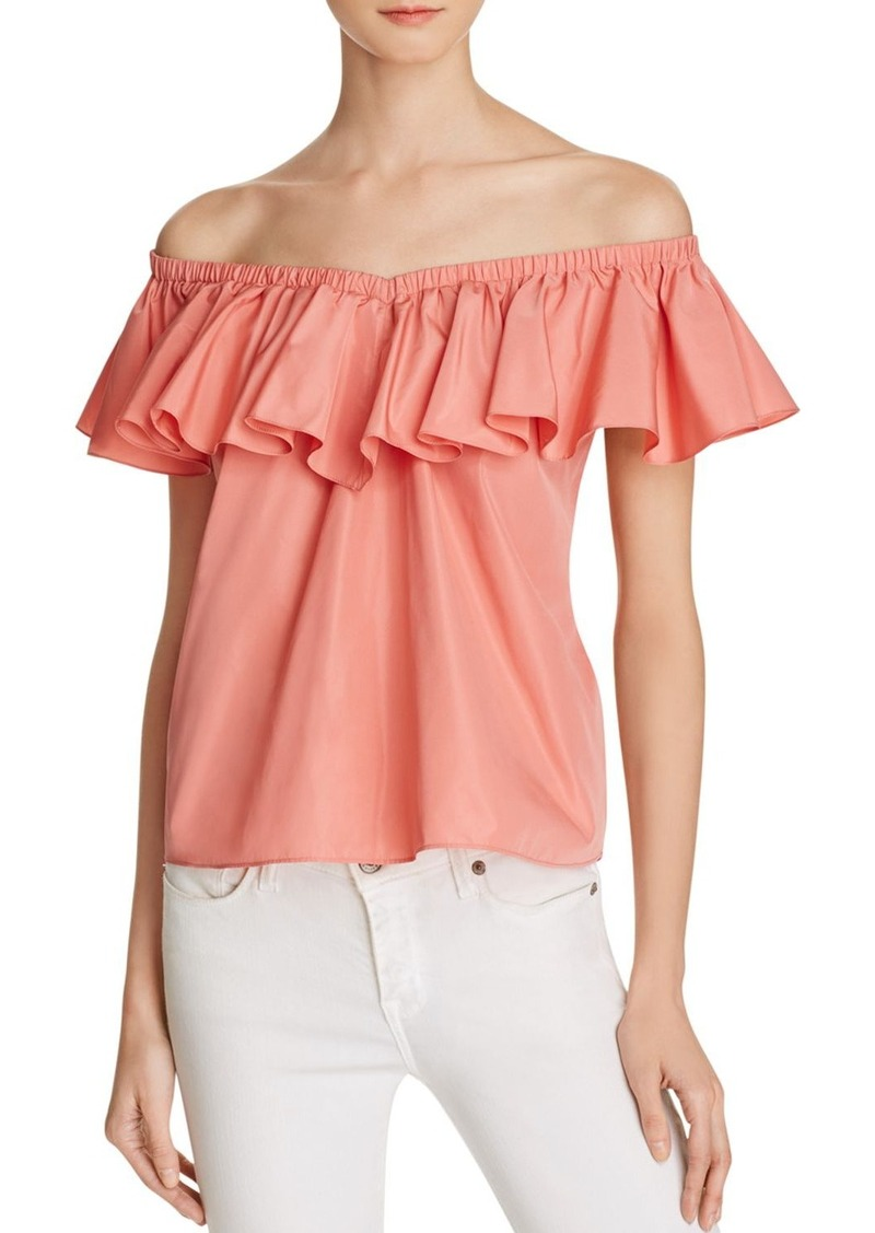 645a77a11e6d4 Rebecca Taylor Rebecca Taylor Off-the-Shoulder Ruffle Top