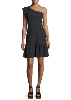 Rebecca Taylor One-Shoulder Rib Jersey Dress