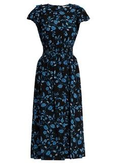 Rebecca Taylor Open-shoulder silk-chiffon dress