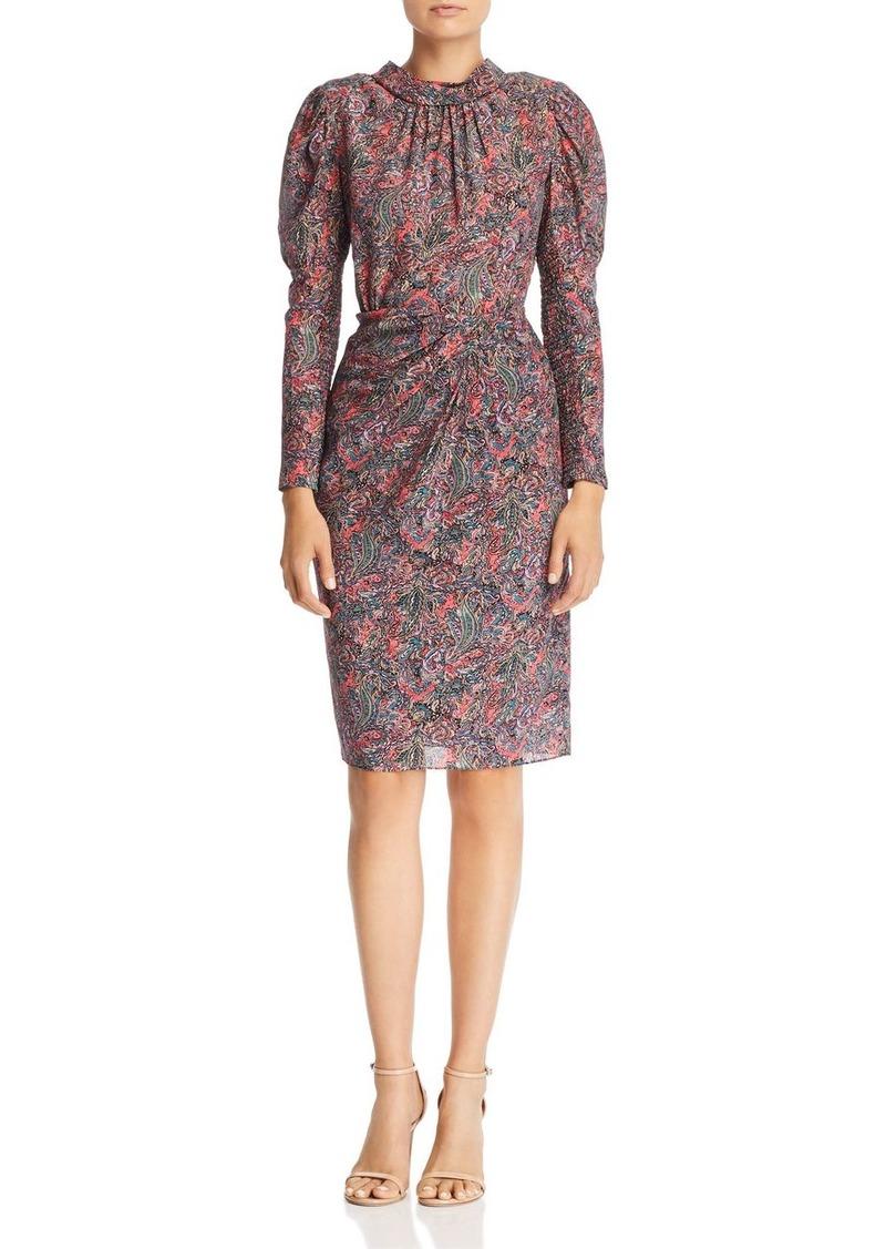 Rebecca Taylor Paisley Puff-Sleeve Dress