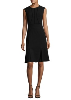 Rebecca Taylor Paneled Keyhole Shift Dress