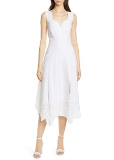 Rebecca Taylor Papillon V-Neck Cotton Eyelet Dress