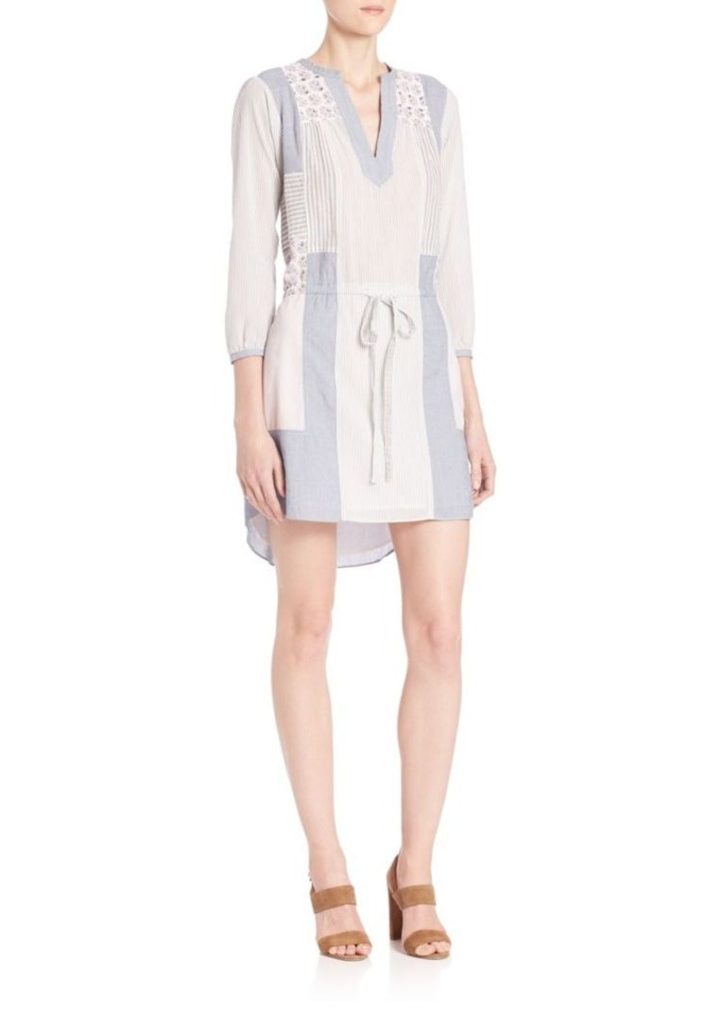 Rebecca Taylor Patchwork Cotton Dress