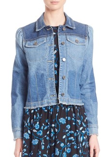 Rebecca Taylor Patchwork Denim Jacket