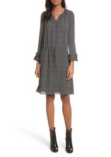 Rebecca Taylor Pebble Print Silk Dress