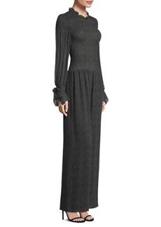 Rebecca Taylor Pebble-Print Silk Jumpsuit