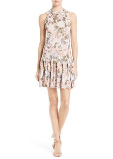 Rebecca Taylor Penelope Floral A-Line Dress