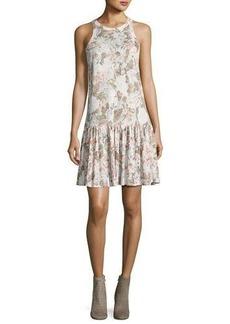 Rebecca Taylor Penelope Floral-Print Jersey Tank Dress