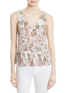 Rebecca Taylor Penelope Floral Silk Top