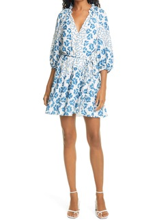 Rebecca Taylor Perla Mixed Print Silk Minidress