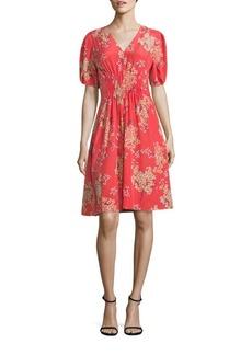 Rebecca Taylor Phlox Floral Print Silk Dress