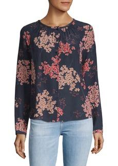 Rebecca Taylor Phlox Floral Silk Blouse
