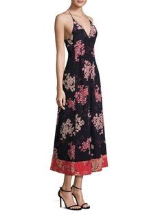 Rebecca Taylor Phlox Floral Silk Dress
