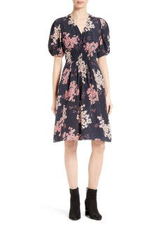 Rebecca Taylor Phlox Silk Midi Dress