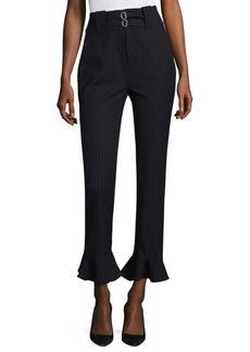 Pinstripe Ruffled Pants