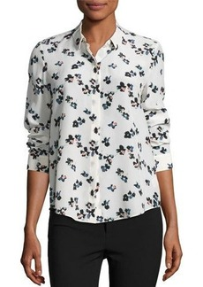 Rebecca Taylor Pinwheel Long-Sleeve Top