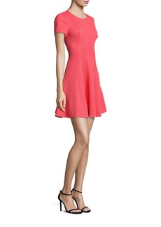 Rebecca Taylor Pique Fit-&-Flare Dress