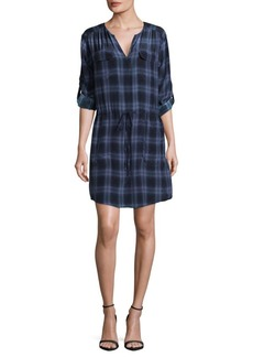 Rebecca Taylor Plaid Silk Shirtdress