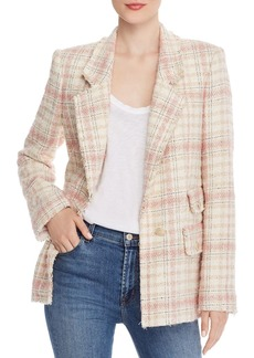 Rebecca Taylor Plaid Tweed Blazer