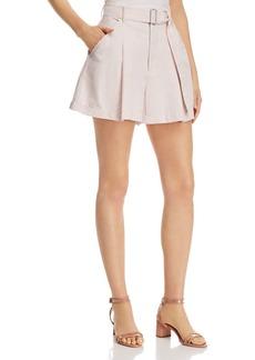 La Vie Rebecca Taylor Pleat-Front Belted Shorts