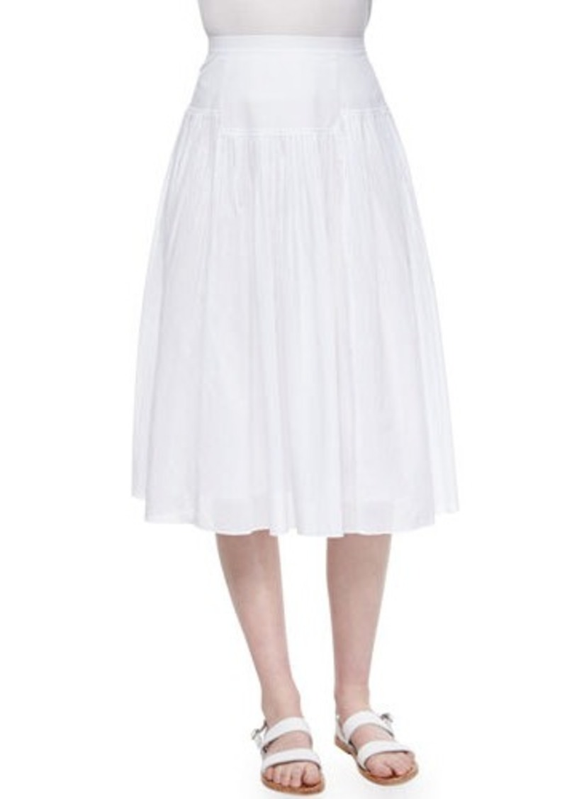 Rebecca Taylor Pleated Cotton Voile Skirt