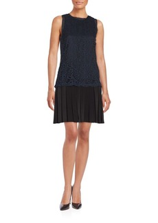Rebecca Taylor Pleated Lace Dress