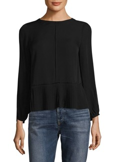 Rebecca Taylor Pleated Silk Blouse